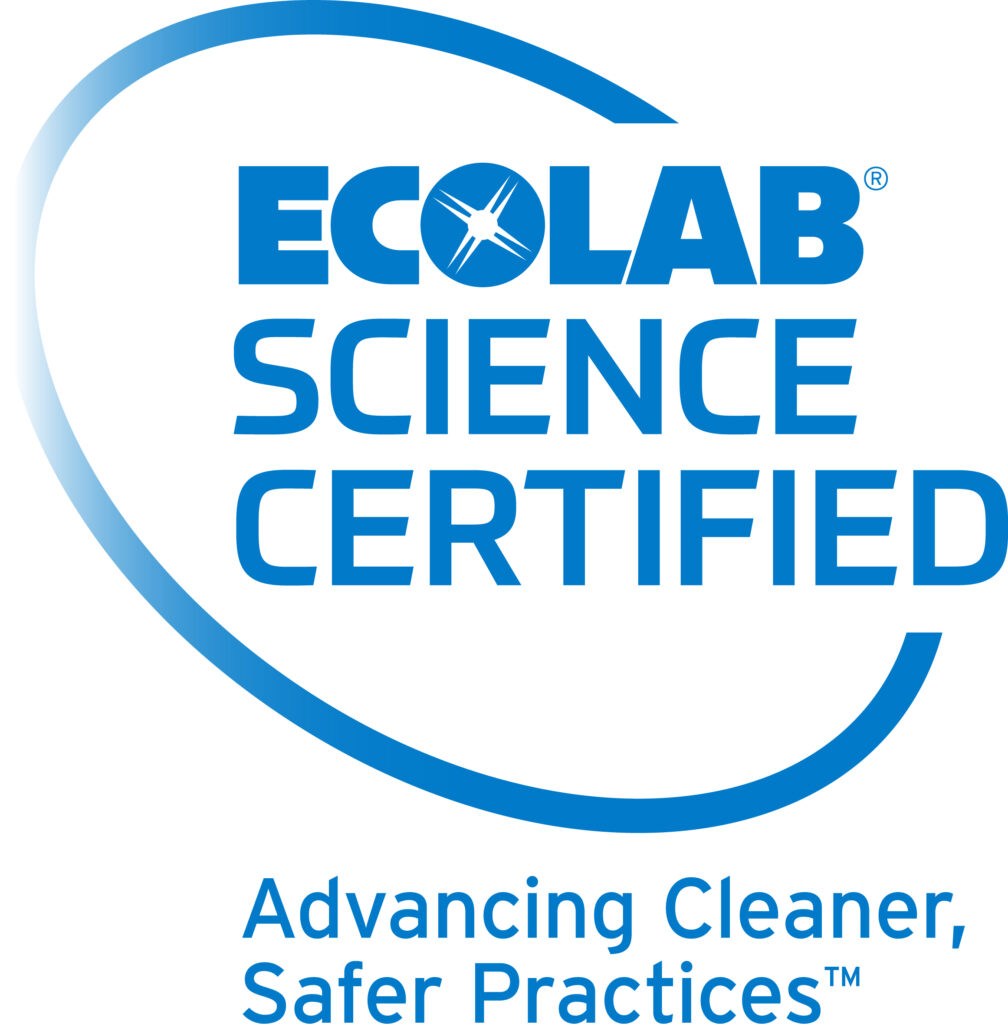 Ecolab Science Certified seal. Advancing Cleaner, Safer Practices.